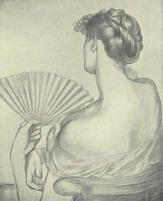 Dante Gabriel Rossetti : Lady With a Fan