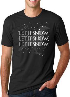 Let It Snow Let It Snow Let It Snow Crows T-Shirt | CrazyDog T-shirts