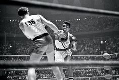 An Cassius Clay wins the Olympic Light Heavyweight gold medal against Poland's Zbigniew Pietrzykowski. Rome 1960 [[MORE]] It is a common misconception that Muhammad Ali (Cassius Clay) won the heavyweight gold medal. In fact the winner of. Olympic Boxing, Mma Boxing, Olympic Games, Olympia, Thrilla In Manila, Larry Holmes, Muhammad Ali Boxing, United Nations Headquarters, Rare Photos