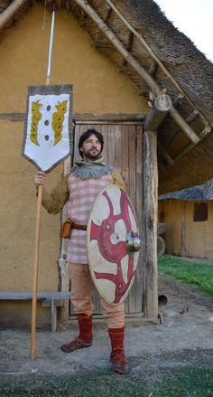 Re-enactor portraying Frankish and Merovingian period (6th - 7th century AD).