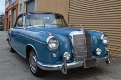 # 18326 This 1960 Mercedes-Benz 220SE Convertible . It is equipped with a 4 Speed Manual transmission. The vehicle is Blue with a Black interior. It is offered As-Is, not covered by a warranty. - 1960 Mercedes 220SE Ponton Cabriolet. Blue with Black interior. Excellent original car. Last and the most collectable year for the fuel injected ponton body. Priced at $87,500. - AM-FM - Contact Internet Sales at 718-545-0500 or gullwingny@aol.com for more information. - -