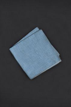 Blue Color Flecked Pocket Square