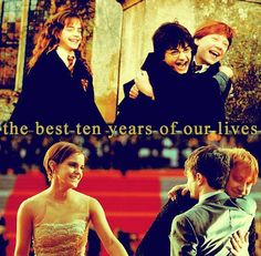 The best ten years of our lives.  I love those pictures!!