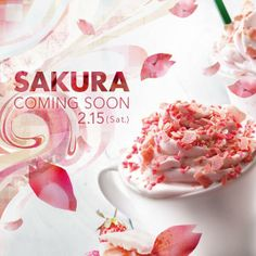 "Starbucks Strawberry Chocolate Latte ""Sakura"" , Japan"