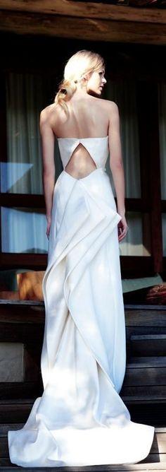 Sculptural gowns