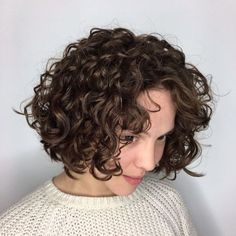 50 Gorgeous Perms Looks: Say Hello to Your Future Curls! - Kristy Herwig - 50 Gorgeous Perms Looks: Say Hello to Your Future Curls! Short Hair Perm With Big Curl Sure, the bushy perms of the might be out of vogue, but there are plenty of mo Short Curly Haircuts, Curly Hair Cuts, Short Hair Cuts, Curly Hair Styles, Short Hair Perms, Short Hair With Perm, Spiral Perm Short Hair, Short Hair Perm Styles, Curling Short Hair