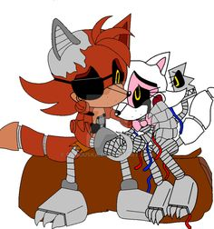 mangle and Foxy Sonic style by danduska on DeviantArt