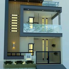 Indian House Exterior Design, Modern Exterior House Designs, Latest House Designs, Modern House Design, House Outer Design, House Outside Design, House Front Design, Small House Design, 3 Storey House Design
