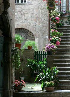 Cortona, Italy, in summer