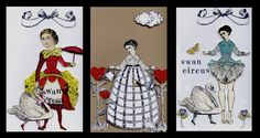 Slide 17, a selection of fabulous paper dolls by Nancy Gene Armstrong, working with stamps from the Timekeeper's Garden by Character Constructions.