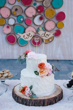 cake table backdrop, photo by Sue Wheelock Photography http://ruffledblog.com/san-juan-capistrano-wedding-with-handmade-touches #weddingcake #backdrops