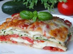 Lasagnes végétariennes aux courgettes, tomates et mozzarella - La Cuisine d'Adeline