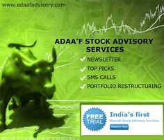India's First Shariah Stock Advisory Services Free Trial Register Now !!! Hurry Up !!!