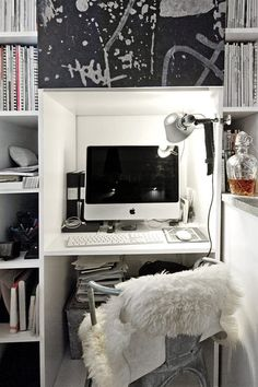 compact workspace + whiskey (via TheDesignerPad)