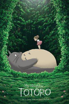 My Neighbor Totoro, by Ape Meets Girl #apemeetsgirl #totoroprint