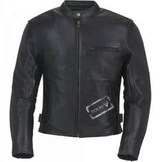 Blouson Cuir Moto Noir