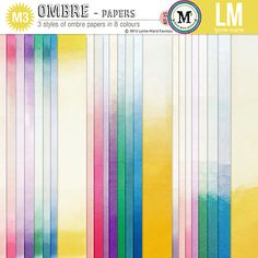 Ombre papers *M3 by Lynne-Marie