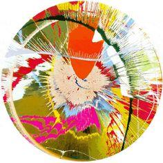 "Damien Hirst Screen print ""Beautiful, galactic, exploding"""