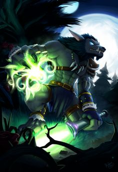 Worgen Feral Druid of the Claw by sonicolas from World of Warcraft