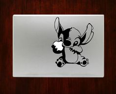 Stitch Holding Apple Disney Cute Decal Sticker For Macbook 13 15 inch Pro Air #RusticDecal