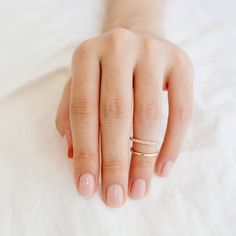 Gold Two Ring Knuckle or Midi Ring | The Alchemy Shop