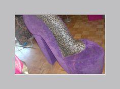Vintage High Heel Shoe Chair Sofa Purple By Patsapearlsboutique 199 99