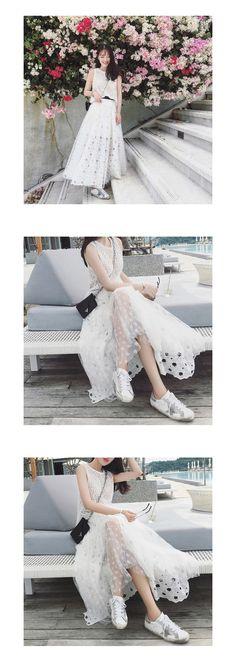 CARIEDO 独家设计 定制面料 重磅星星镂空拼接纱裙-淘宝网