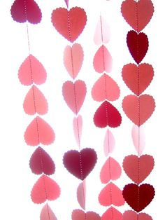 Pink and red heart garland available at http://www.etsy.com/shop/youngheartslove
