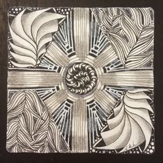 I am the diva, Laura Harms - Certified Zentangle Teacher (CZT®): Weekly Challenge #213. this week's challenge is to trace an object to create a new and interesting string. --