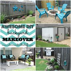 Awesome DIY Backyard Makeover @ A Diamond in the Stuff