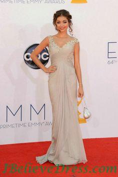 Full Length Sarah Hyland Elegant Evening Dress 64th Emmys Awards 2012,Full Length Sarah Hyland Elegant Evening Dress 64th Emmys Awards 2012 - Selena gomez dresses, taylor swift dresses, celebrity look alike dresses-ibelievedress.com