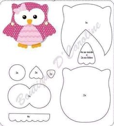 owl pattern, in green Owl Templates, Applique Templates, Applique Patterns, Applique Designs, Quilt Patterns, Owl Applique, Owl Crafts, Paper Crafts, Sewing Projects
