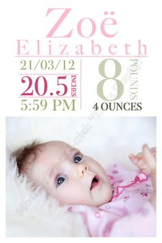 baby birth announcement name meaning unisex boy by ptwatersdesigns