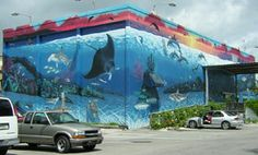"""wyland's """"florida's living reef"""" mural in key west - my family lived there while this was being painted"""