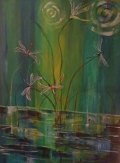 Acrylmalerei/ Acrylpainting by M.Minke Inspired by Art of Sherpa