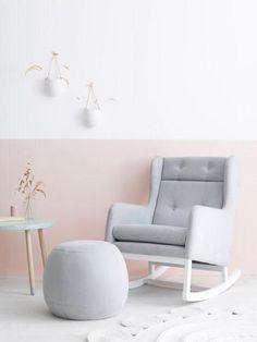 Ollie Ella Co-Ko Rocking Nursing Chair - Leather