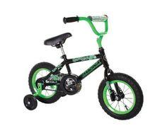 Boy's Bike (12-Inch, Green/Black) Beginner Bicycle Sports Training Wheels New   #Dynacraft