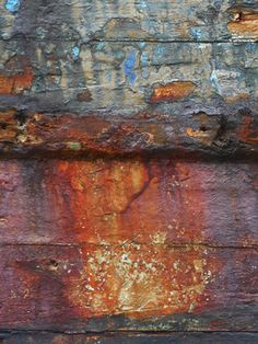 Rusty boat by natdiastock on DeviantArt Art Texture, Inspiration Artistique, Rust Paint, Peeling Paint, Nature Artwork, Rusty Metal, Rust Color, Abstract Photography, Textures Patterns