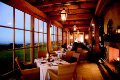 The dining room at The Farm at Cape Kidnappers