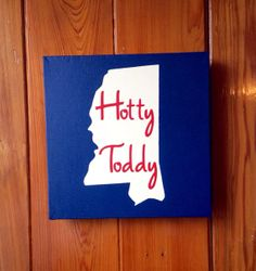 Custom Ole Miss Rebels Hotty Toddy Painting on Canvas by RusticMenagerie