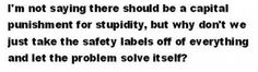 safety labels.....or not?