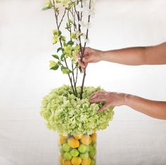 This is a great idea for a spring centerpiece! Love!