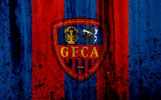 Download wallpapers FC Gazelec Ajaccio, 4k, logo, Ligue 2, stone texture, ASNL, France, Gazelec Ajaccio, grunge, soccer, football club, Liga 2, Gazelec Ajaccio FC