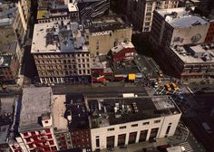 Magnus Magnusson explores the space above the corner of Broadway and Canal street in New York.