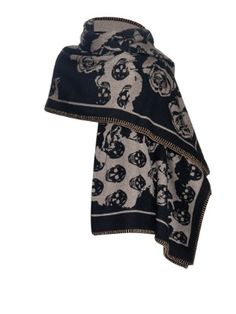 Skull and roses wool and cashmere-blend blanket   Alexander McQueen   MATCHESFASHION.COM UK