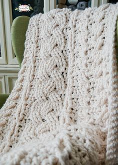 *** This listing is for my Farmhouse Ripple Throw Crochet PATTERN only *** This heirloom cabled throw blanket pattern is so stunning! It is easier than it looks with a 4 row repeat and an in depth video tutorial! Perfectly warm and fun to crochet. This is an advanced level crochet