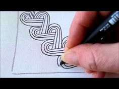 How to draw tanglepattern Heartrope (two ways) - YouTube