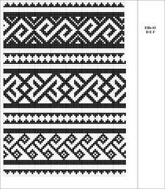 Charted Patterns from Medieval Egypt - Pattern Darning Tapestry Crochet Patterns, Weaving Patterns, Mosaic Patterns, Floral Patterns, Textile Patterns, Cross Stitch Designs, Cross Stitch Patterns, Cross Stitch Borders, Knitting Charts