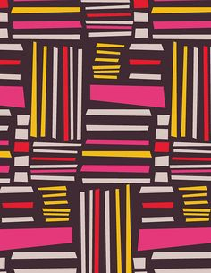Paper Collage - line  pattern -- could use this as background for 3rd grade self-portraits Vertical / Horizontal A-B pattern