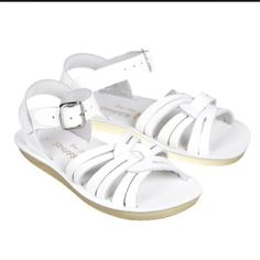 Check out this listing on Kidizen: Sun~San Saltwater ~ White Strappy Sandal
